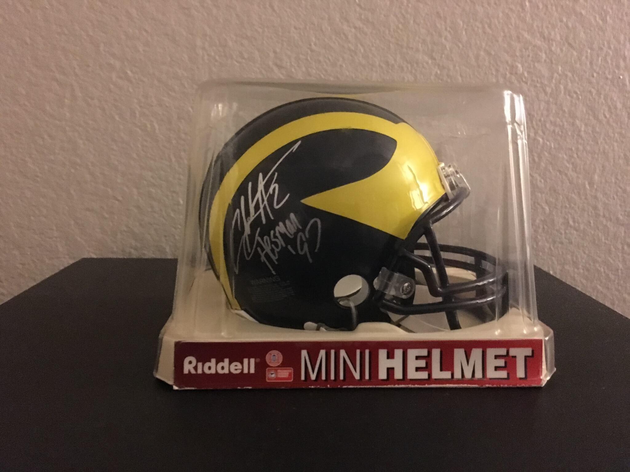650bdb976 Charles Woodson autographed mini helmet | Memorabilia Expert
