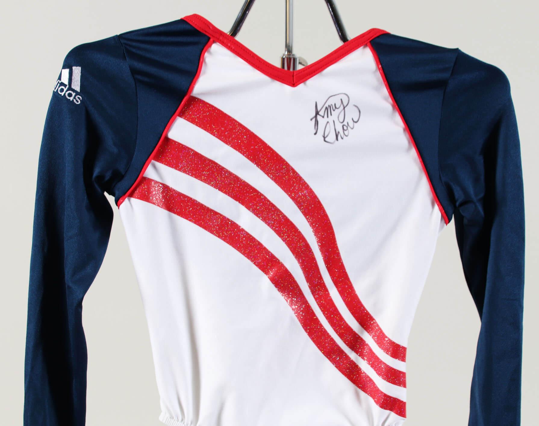 ed2b6edbcb8 Gymnast Amy Chow Worn, Signed Olympic Trials Leotard Outfit