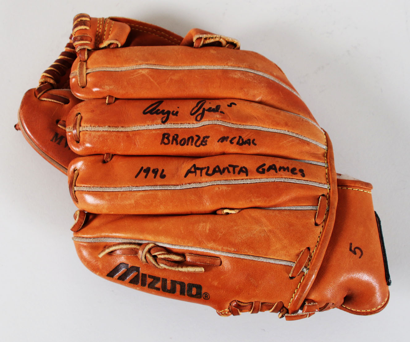 88dac83e082 1996 Augie Ojeda Worn Used Baseball Glove Signed w/Pants Olympics