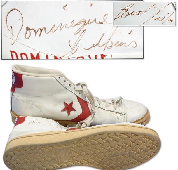 size 40 40c91 4c8df Dominique Wilkins Game-Used Signed Shoes   Memorabilia Expert