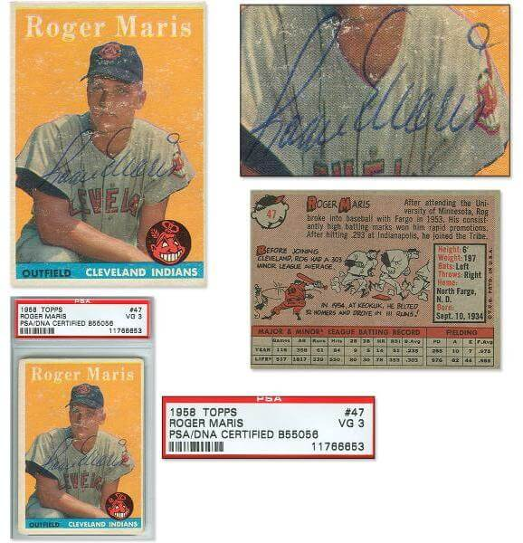 1958 Topps Signed Roger Maris Rookie Card