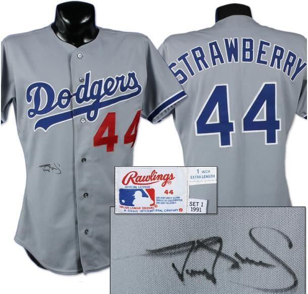 huge discount 03998 41b6c 1991 Darryl Strawberry Game Worn Signed Jersey