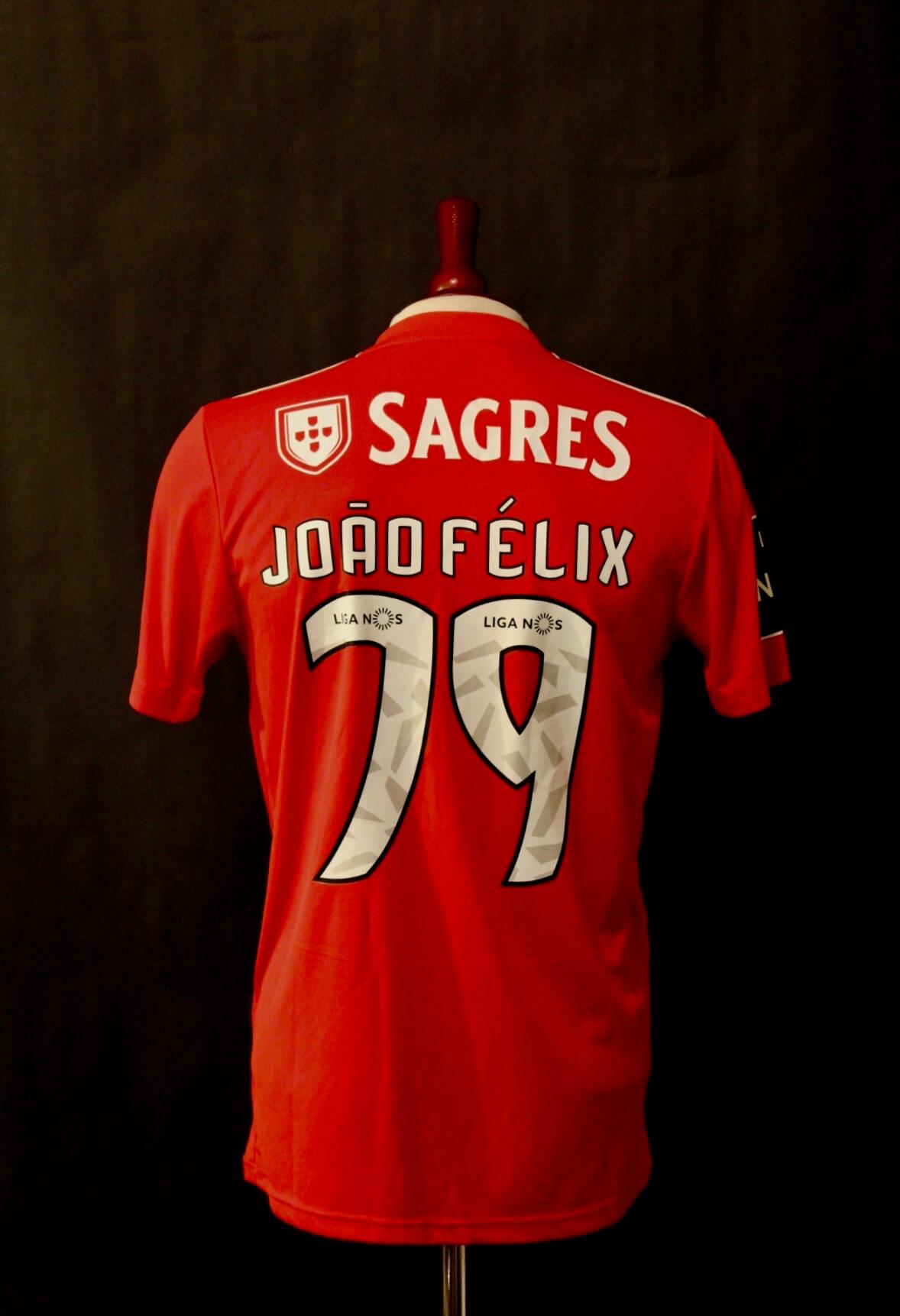 huge selection of 7b803 3ac07 Joao Felix Game-Used #79 Benfica Home Shirt. 2018/19.