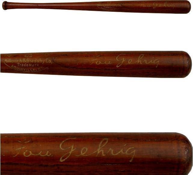 Lou Gehrig Souvenir Mini Bat