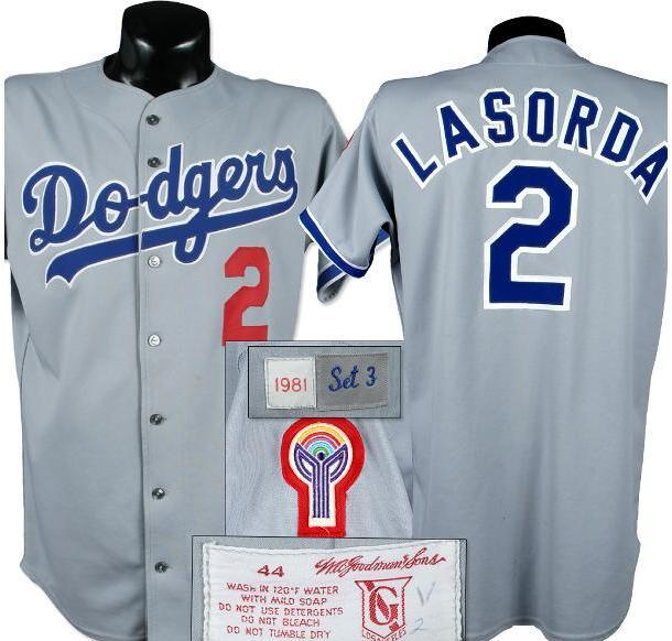 official photos f9e39 8d3b6 1981 Tommy Lasorda Game Worn Jersey