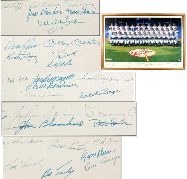 1961 New York Yankees Team-signed Ron Lewis Lithograph 25/1000