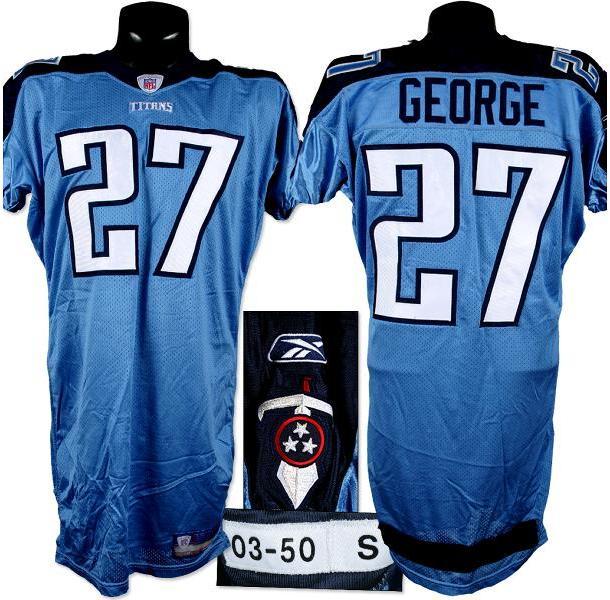 new style 91119 0236f 2003 Eddie George Tennessee Titans Game Worn Jersey.