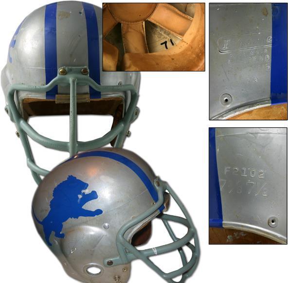 "1962 Alex ""The Greek"" Karras Detroit Lions Game-Used Helmet."