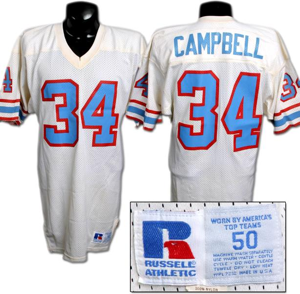best website 20e24 14749 Earl Campbell Houston Oilers Game Worn Jersey