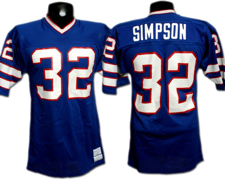 pretty nice 1dd9e 14bf8 O.J. Simpson Bills Game-Used Jersey