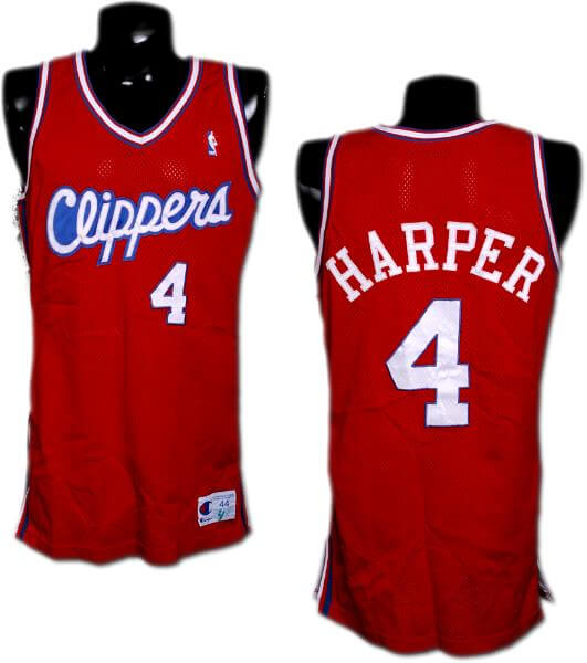 Game-worn Harper Jersey Clippers 1990 Ron