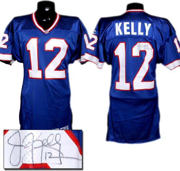 the latest 34dc1 120cb 1995 Jim Kelly Bills Game-Worn, Signed Jersey
