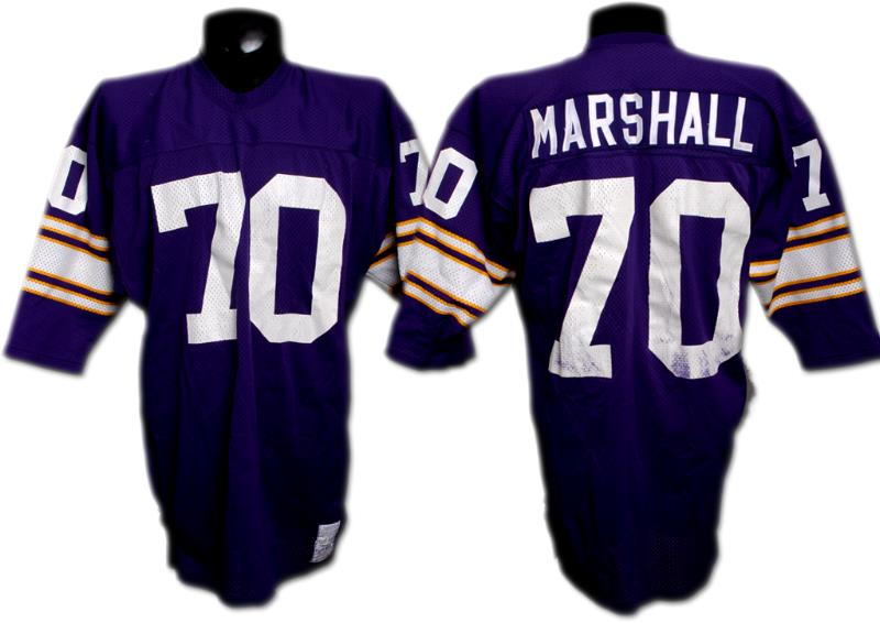 cheap for discount ddb2b 94a6c Early 70's Jim Marshall Game-Worn Vikings Jersey