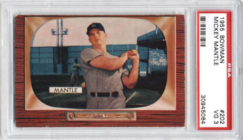 Mickey Mantle 1955 Bowman Card