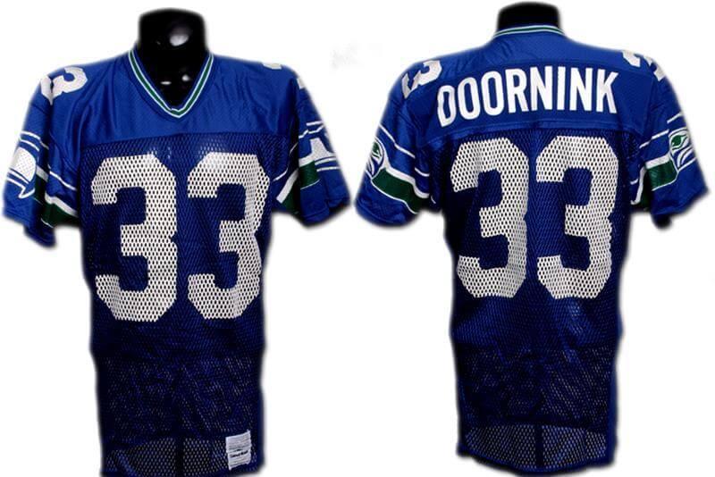 Dan Doornink Game-Worn Seahawks Jersey