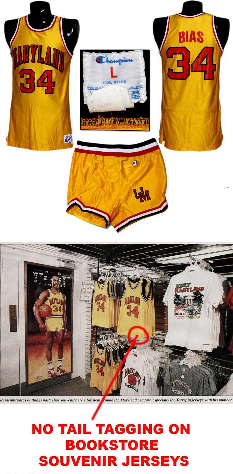 big sale ce5f6 4b279 Len Bias Maryland Game-Worn Uniform
