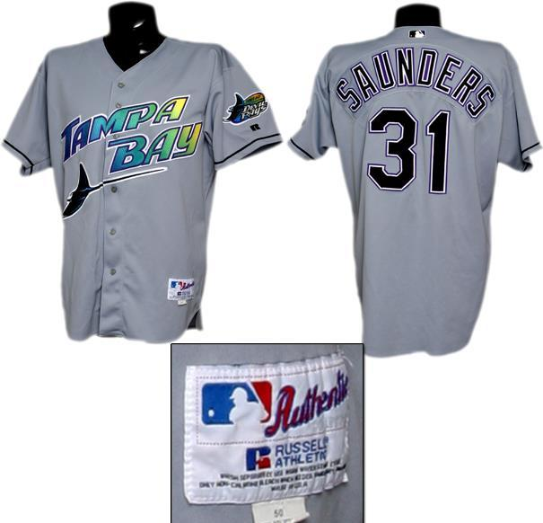 best service 8eea6 9d0c7 Tony Saunders Game-Worn Devil Rays Jersey