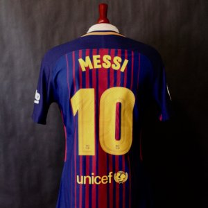 b95709f9a Lionel Messi Game-Used  10 FC Barcelona Home Shirt. 2017 18 La Liga.