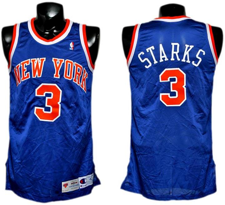 newest f446c 91847 1994-95 John Starks Game-Worn Knicks Jersey