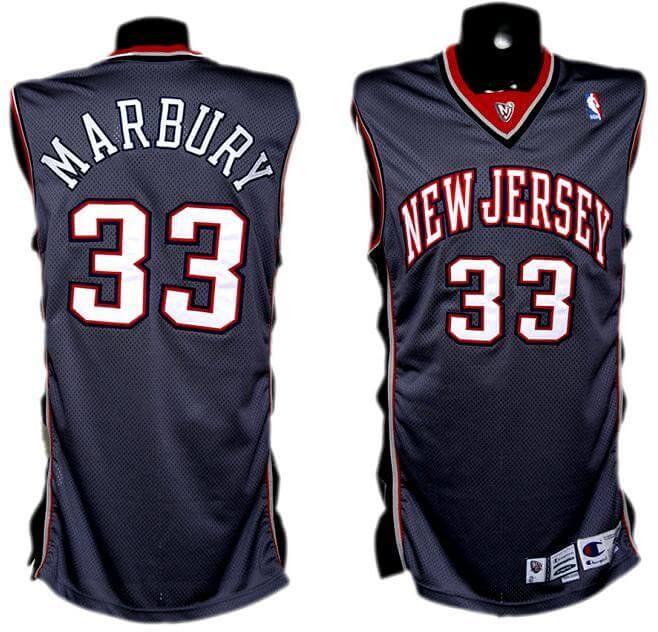 quality design 2c5a2 3b2de 1999-2000 Stephon Marbury Game-Worn Nets Alternate Jersey