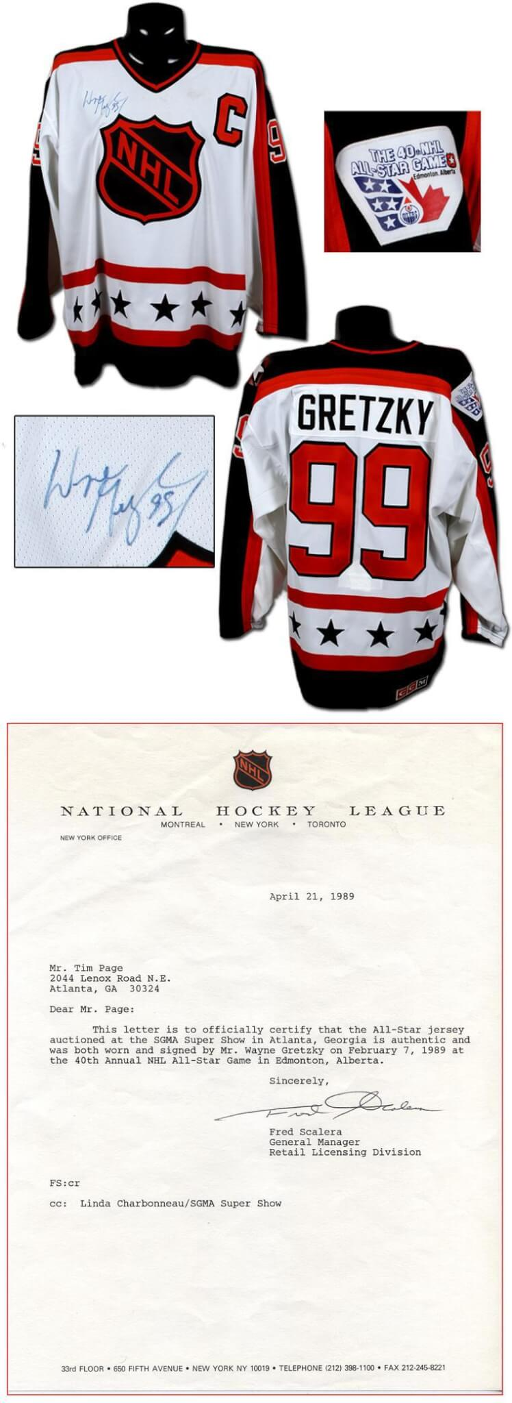 reputable site 1d13a 47dcc 1988-89 Wayne Gretzky Game-Worn, Signed All-Star Jersey w/Original NHL  Authenticity