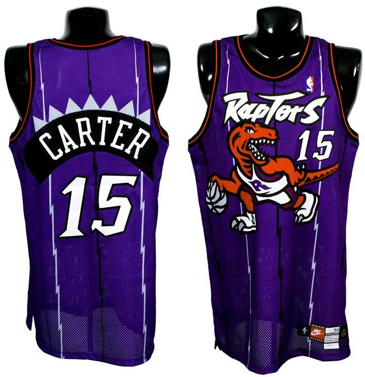 competitive price 9f9a5 0ba46 1998-99 Vince Carter Game-Worn Raptors ROOKIE Jersey