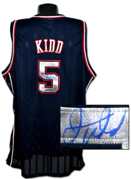 sports shoes 85e0f 8d7c9 Jason Kidd Signed Nets Jersey