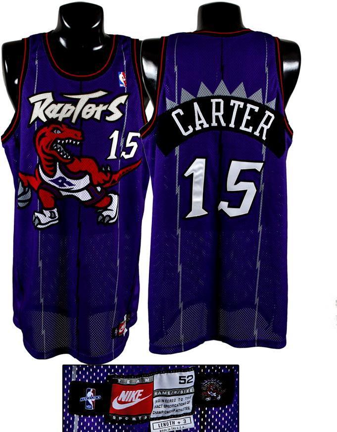 online retailer 91c2c 230fa 1998-99 Vince Carter Game-Worn Rapters Rookie Jersey