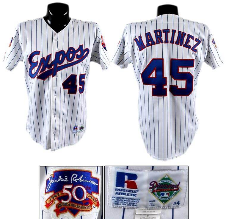 outlet store b432c 28236 1997 Pedro Martinez Game-Worn Expos Jersey
