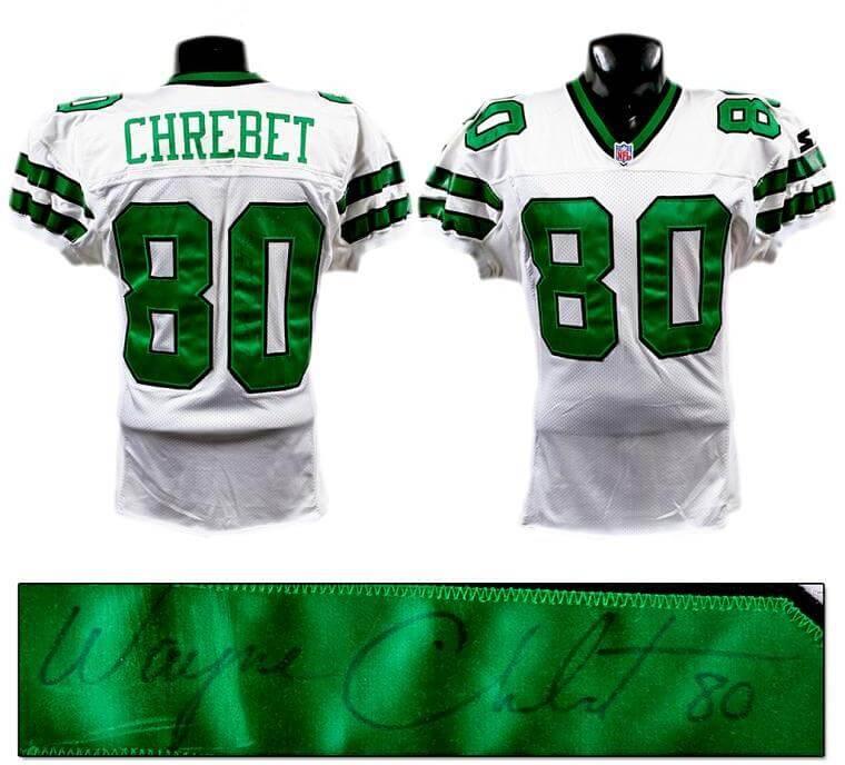 huge selection of a3bca b4d73 Mid '90s Wayne Chrebet Game-Worn, Signed Jets Jersey