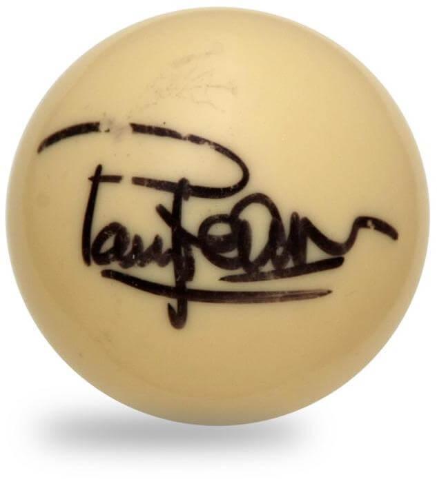 Paul Newman Single-Signed Cue Ball