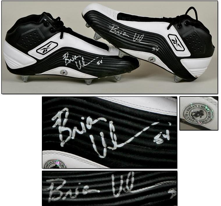 first rate 1b0c3 a8be0 Brian Urlacher Game-Worn, Signed Cleats w/Urlacher Hologram