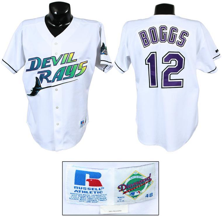 official photos 5b2a5 1aa5e wade boggs devil rays jersey
