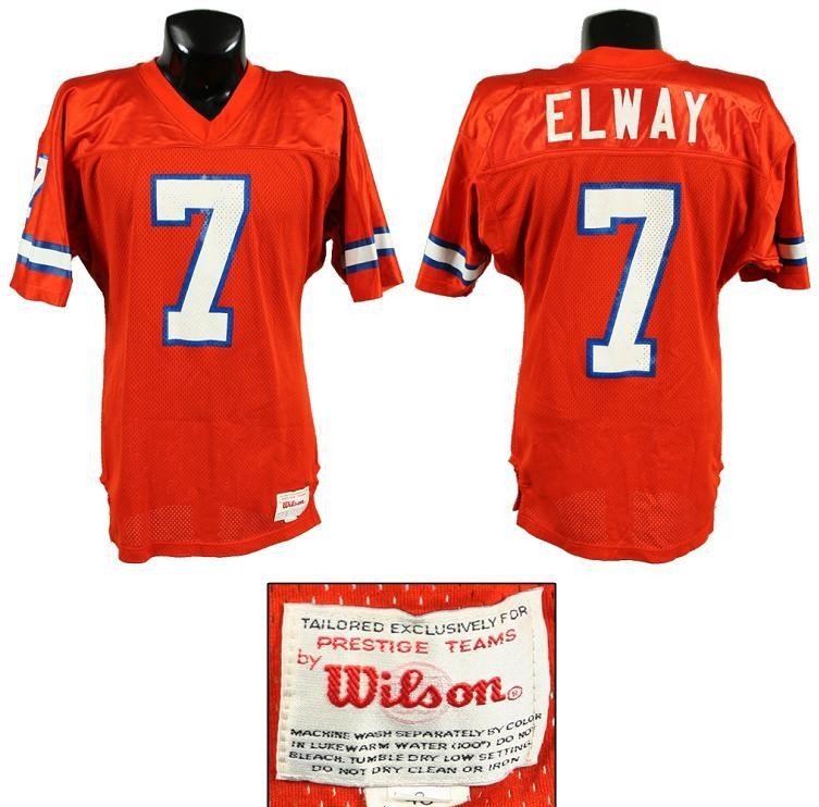 big sale 706c0 18430 1989-90 John Elway Game-Worn Broncos Orange Crush Jersey