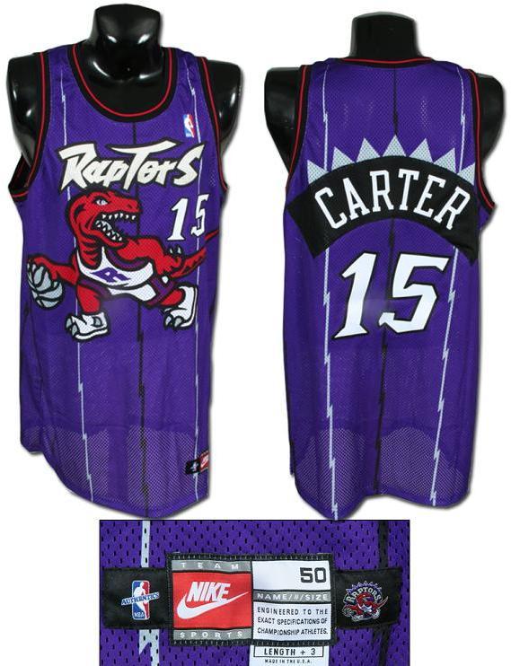 separation shoes ab472 374a6 authentic vince carter raptors jersey