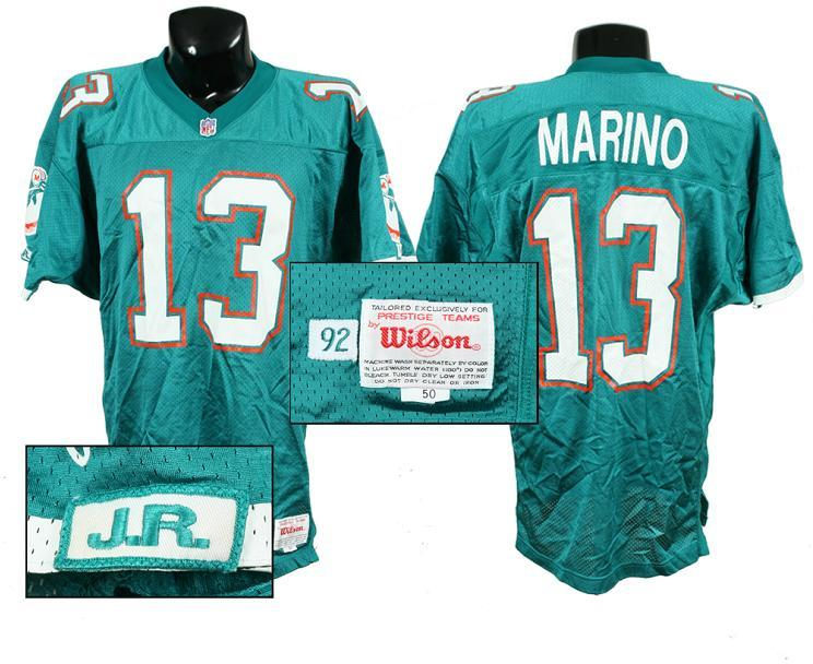 first rate f1954 7b8da 1992 Dan Marino Game-Worn Dolphins Jersey