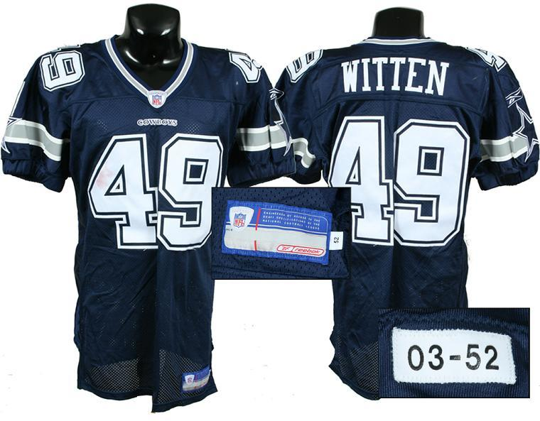 cheap for discount 5fb5e 0d91f 2003 Jason Witten Game-Worn Dallas Cowboys Rookie Jersey