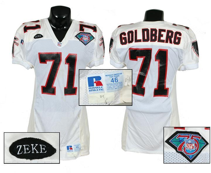 new style 6cb4e 93190 1994 Bill Goldberg Game-Worn Falcons Jersey