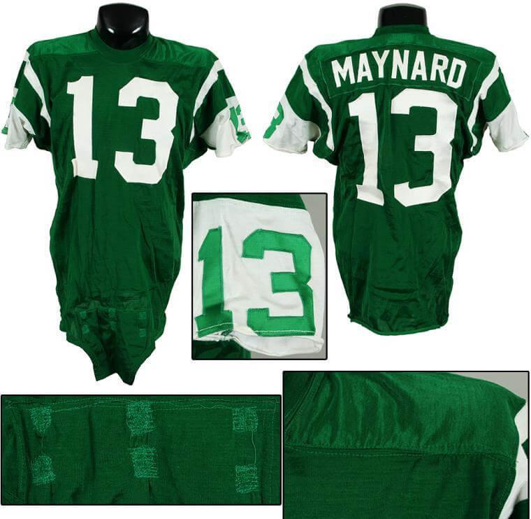 be1c4791 1968-72 Don Maynard Game-Worn Durene Jets Jersey