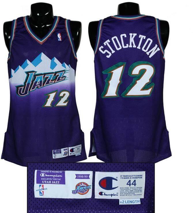new product ac509 b7125 1998-99 John Stockton Game-Worn Jazz Jersey