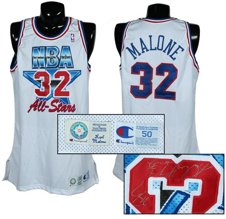 sale retailer 34a58 75c87 1993-94 Karl Malone Game-Worn, Signed All-Star Jersey