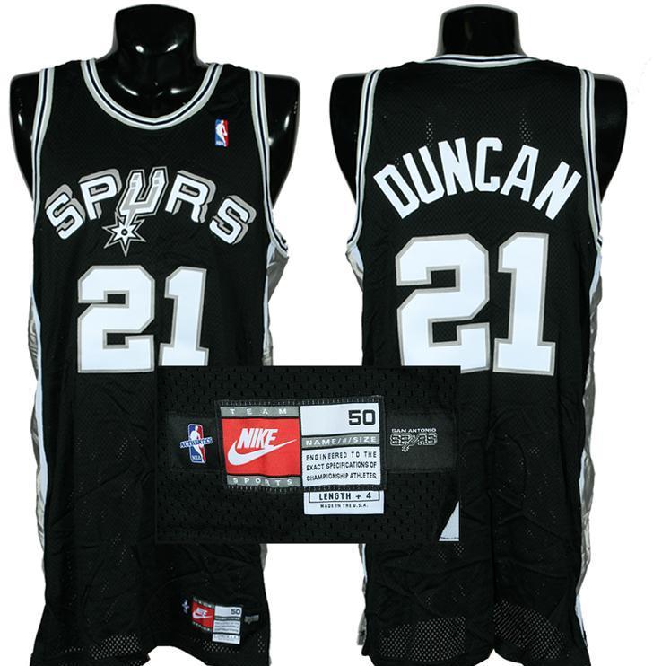 release date: c6b75 a3235 1998-99 Tim Duncan Game-Worn San Antonio Spurs Jersey (from First NBA  Championship Season)