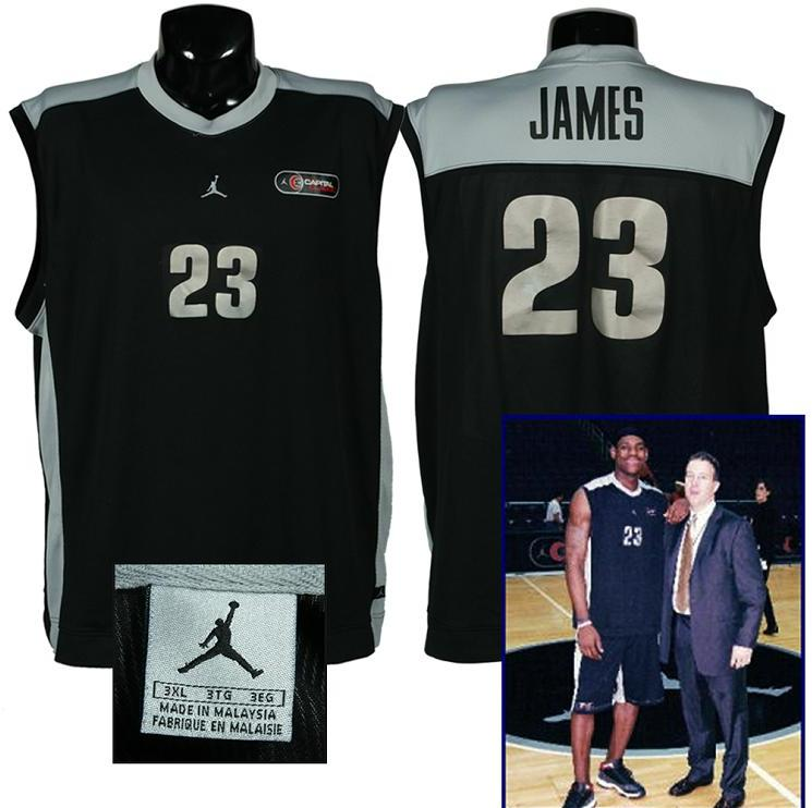 brand new 8bce5 efc0a Lebron James Game-Used High School Jordan Capital Classics Jersey (w/Game  Photo)