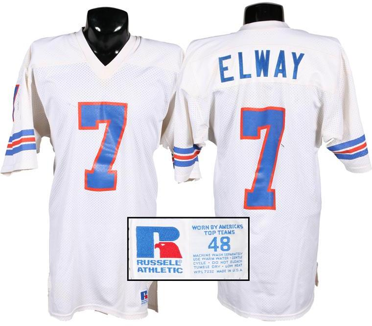 buy popular 952f8 06604 John Elway Game-Worn Broncos Jersey