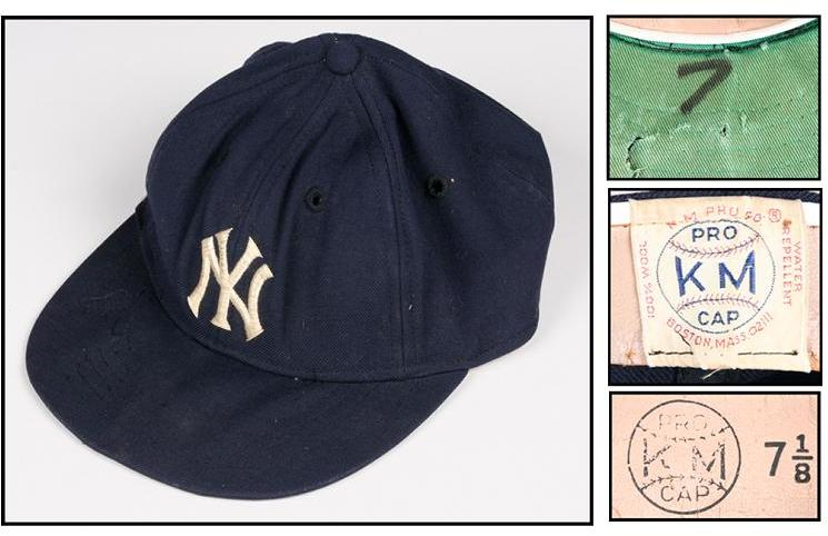 the latest c08fa 68ee2 1960s Mickey Mantle Game-Worn Yankees Cap