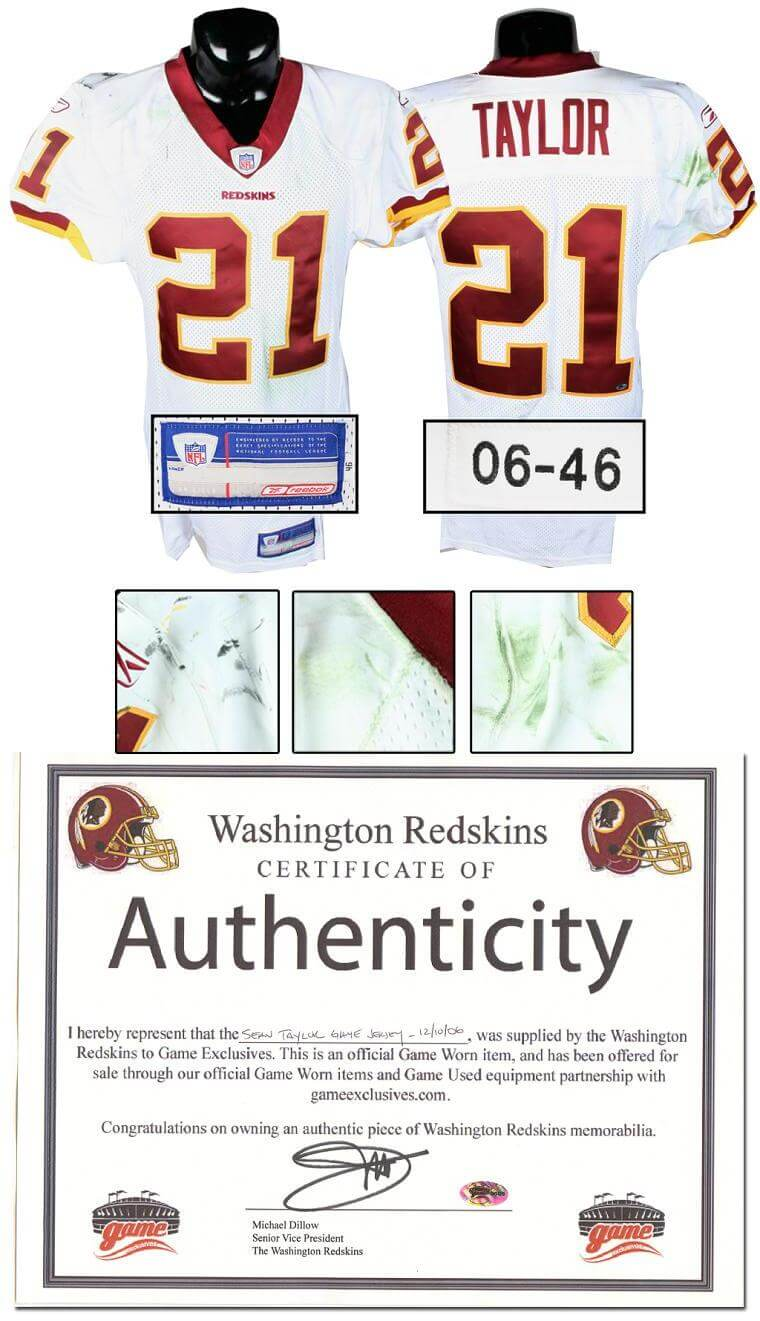 innovative design e38f3 d9cbc 2006 Sean Taylor Game-Used Redskins Jersey, Worn Dec. 10, 2006 vs. Philly