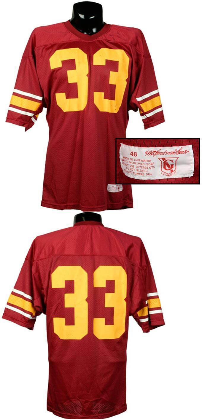 best sneakers 430a0 af25b Early '80s Marcus Allen Game-Worn USC Jersey (Heisman Trophy Winner)