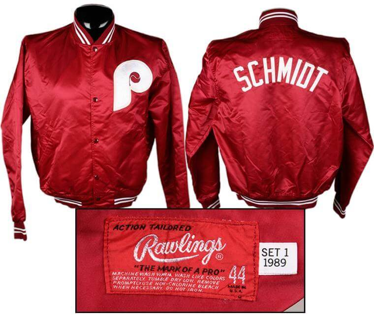 1989 Mike Schmidt Game Worn Phillies Jacket From Final