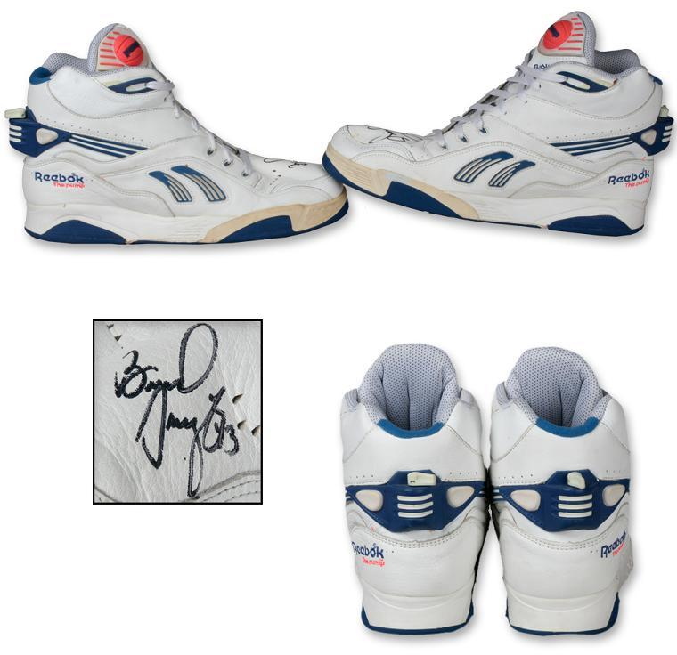 Brad Daugherty Game Worn, Signed Reebok Pump, Shoes