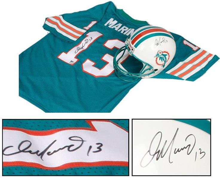 lowest price 33846 ff25b Dan Marino Collection of Autographed Items - FS UDA Helmet & Jersey (Marino  Hologram)